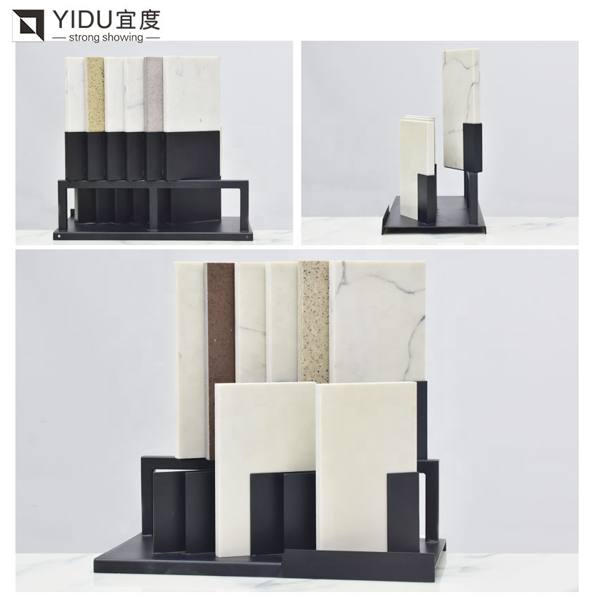 Quartz Stone Desktop Display Rack Factory Wholesale Customization