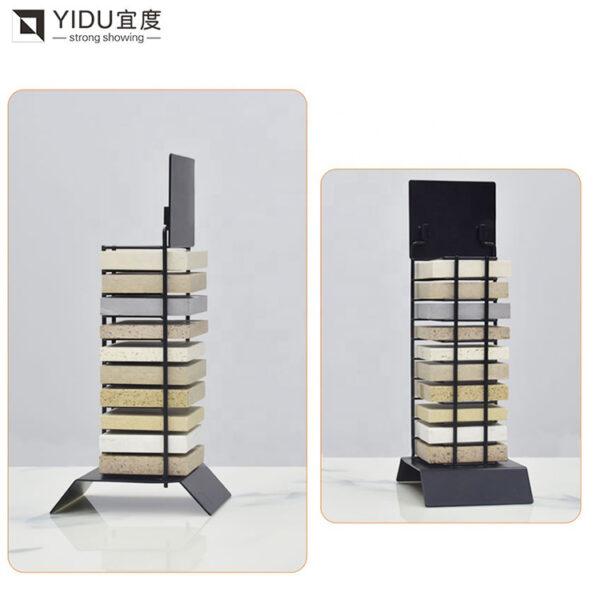 Marble Quartz Stone Desktop Shelf Modern New Ceramic Tile Display Rack