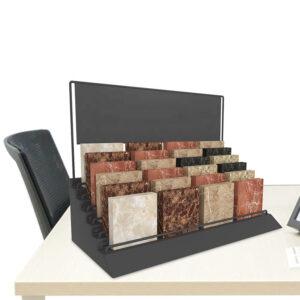 Custom Marble Desktop Display Rack For Stone Display