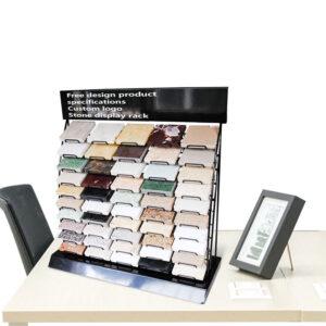Marble Quartz Stone Tile Desktop Display Rack For Adjustable Tile Display Rack