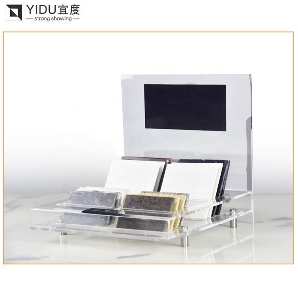 Acrylic Display Stands For Quartz Stone Marble Tile Granite Display