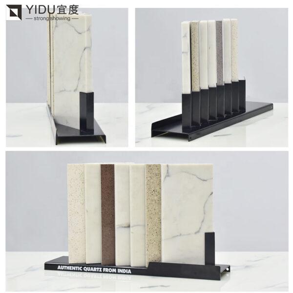 Ceramic Tile Display Rack With Corner Countertop Organizer