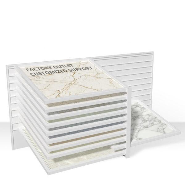Stone Display Rack For Tilted Tile Showroom