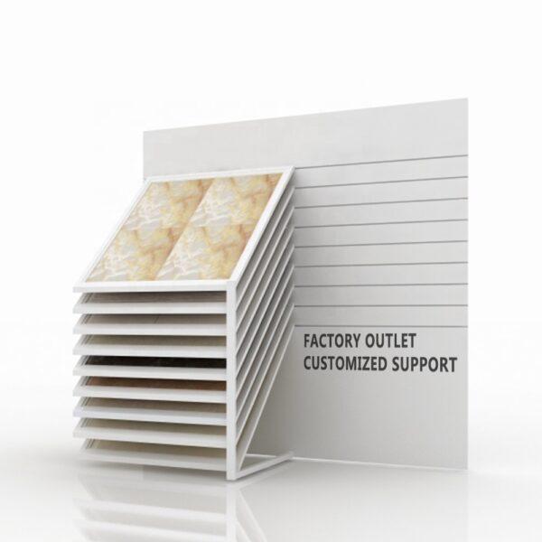 Ceramic Tile Granite Horizontal Sliding Metal Display Rack