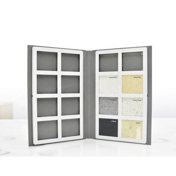 Hot Selling Stone Quartz Stone Sample Folder,2 pages