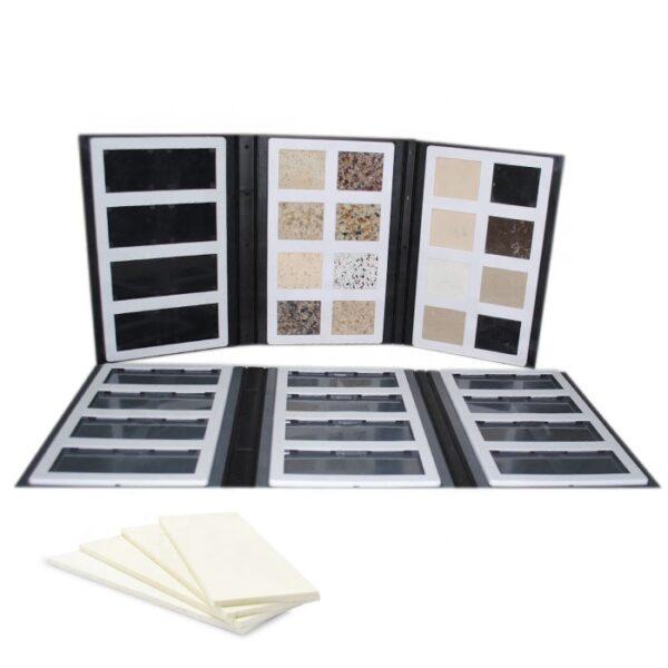 High Quality Plastic Swatch Quartz Stone Marble Sample Book