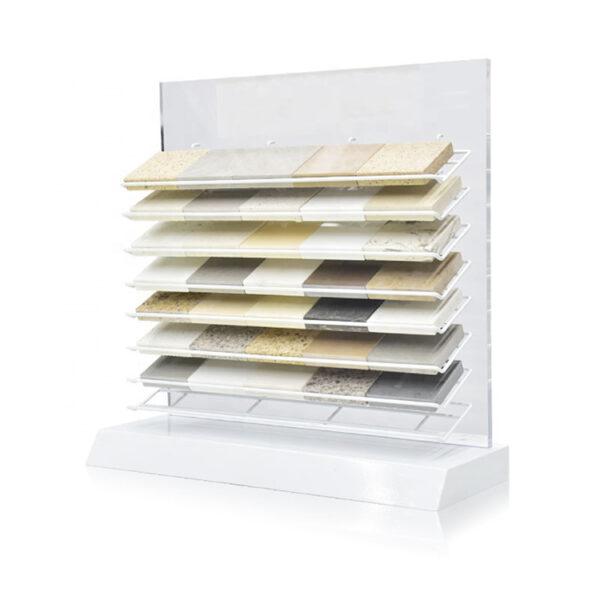 White Quartz Countertops Display Rack Customization