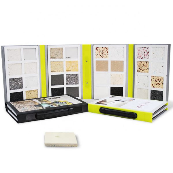 Portable Cardboard Granite Sample Book With Handle