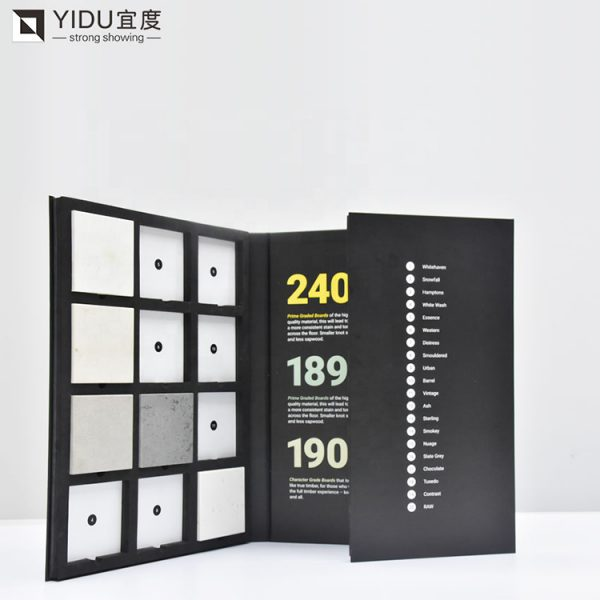 Factory Cardboard Sample Book Custom Colored Marble Quartz Stone Mosaic Tile Sample Book