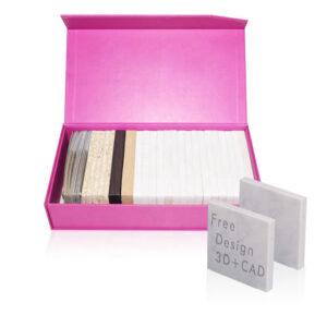 London Stone Sample Box, Marble Sample Red Display Box