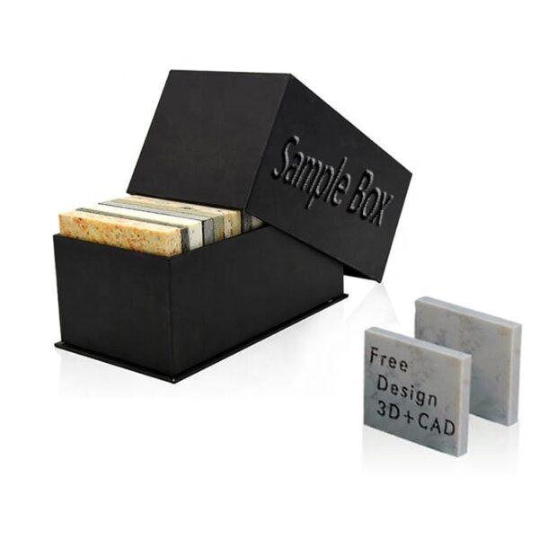 Black Clamshell Quartz Stone Sample Box Wholesale