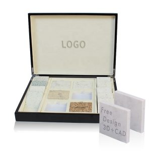Stone Sample Box Showing Marble Quartz Stone Box