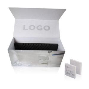 Flip Cover White Quartz Stone Sample Packaging Display Box
