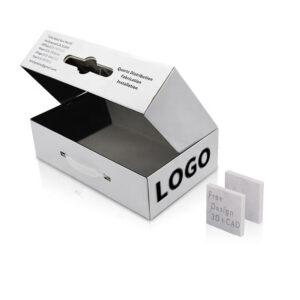 White Quartz Stone Portable Packaging Display Box