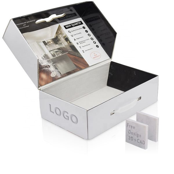 Marble Sample Packaging Box With Logo