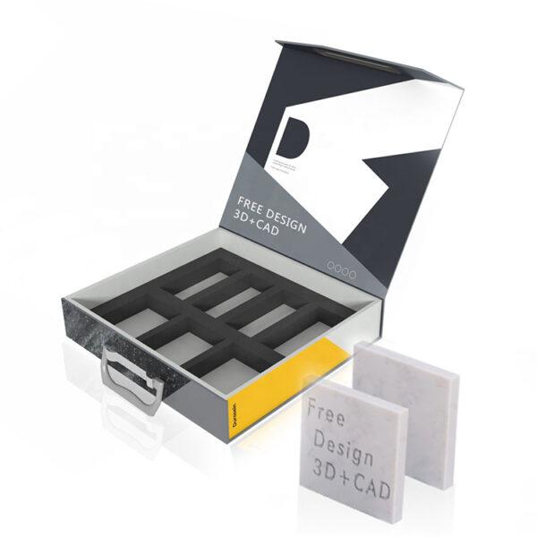 Acrylic Granite Sample Packaging Display Box Wholesale