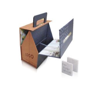 Portable Display Box For Stone Marble Quartz Sample Case