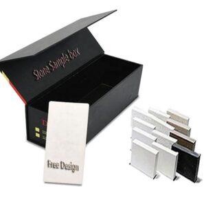 Black Granite Stone Sample Display Box Wholesale