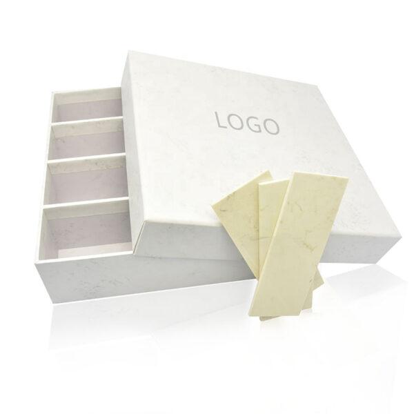 Stone Tile Sample Display Box White With Logo