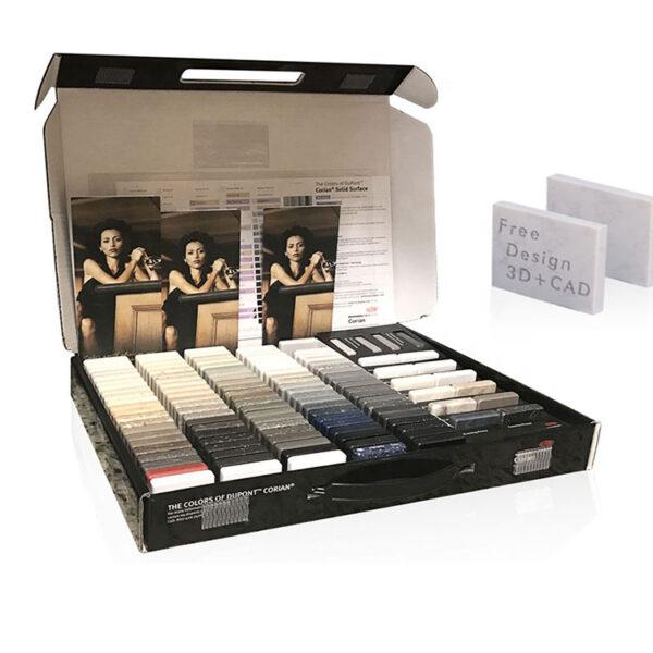 Quartz Stone Sample Cardboard Packaging Box Stone Display