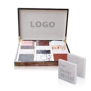 Quartz stone sample display box suitcase