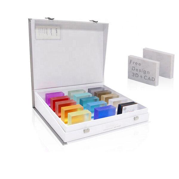 Quartz Sample Display Box Case