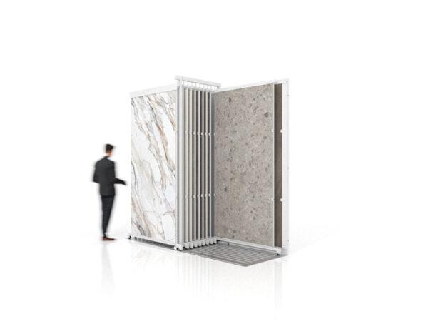 Hot Selling Large Slab Ceramic Tile Sliding Display Stand