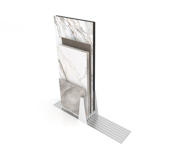 Sliding Tile Display Rack With 6 Retractable Guide Rails
