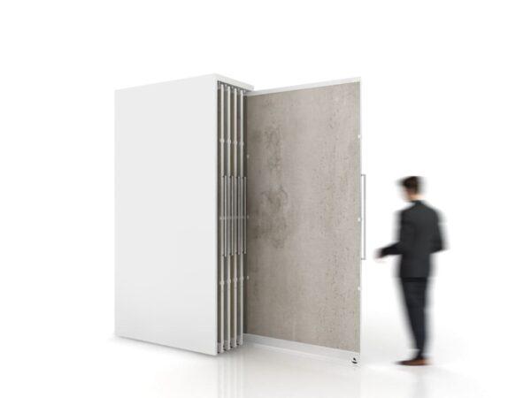 Sliding Tile Display For Large Format Tiles