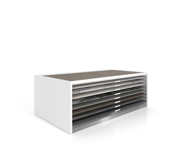 Drawer Unit For The Display Of Ceramic Floor Tiles, 8 Removable Trays