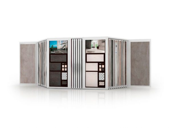 Multi-format Combination Display Stand For Ceramic Floor And Brick Wall Tiles