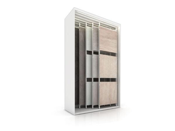 Multi-format Sliding Ceramic Tile Display Display Rack