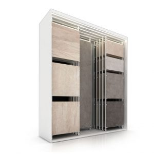 Double-row Multi-format Sliding Ceramic Tile Display Rack