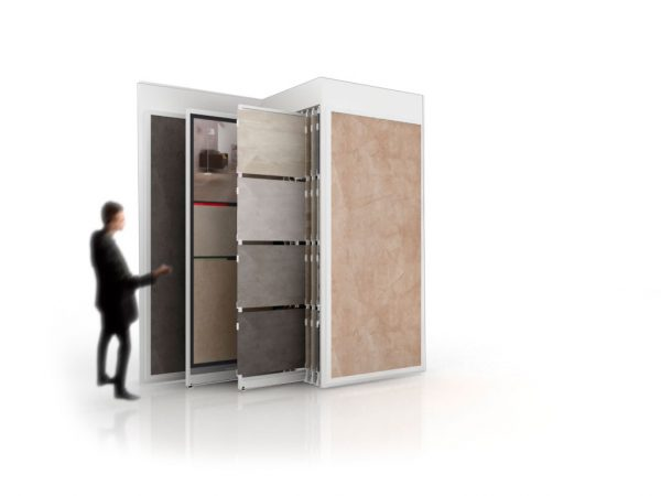 Multi-format Tile Display With 10 Extendable Panels