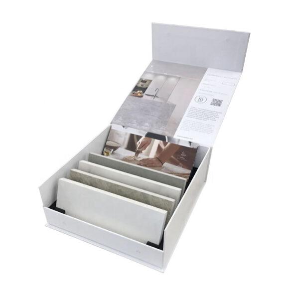 Retail Store Quartz Stone Sample Display Box