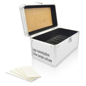 Exquisite Quartz Stone Sample Aluminum Box Suitcase Wholesale