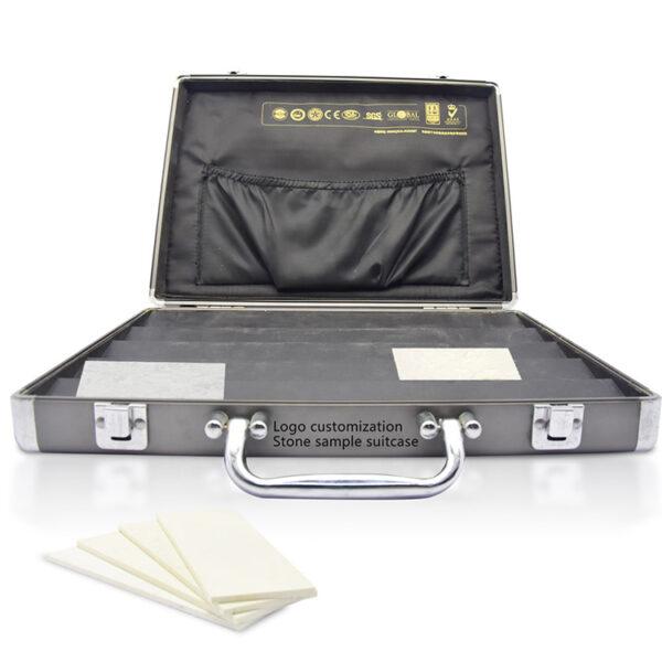 Aluminum Suitcase Quartz Stone Wooden Board Sample Display Box