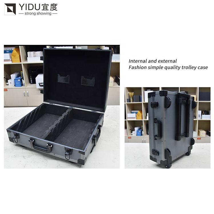 Stone Tile Sample Box With Wheel Aluminum Sample Suitcase