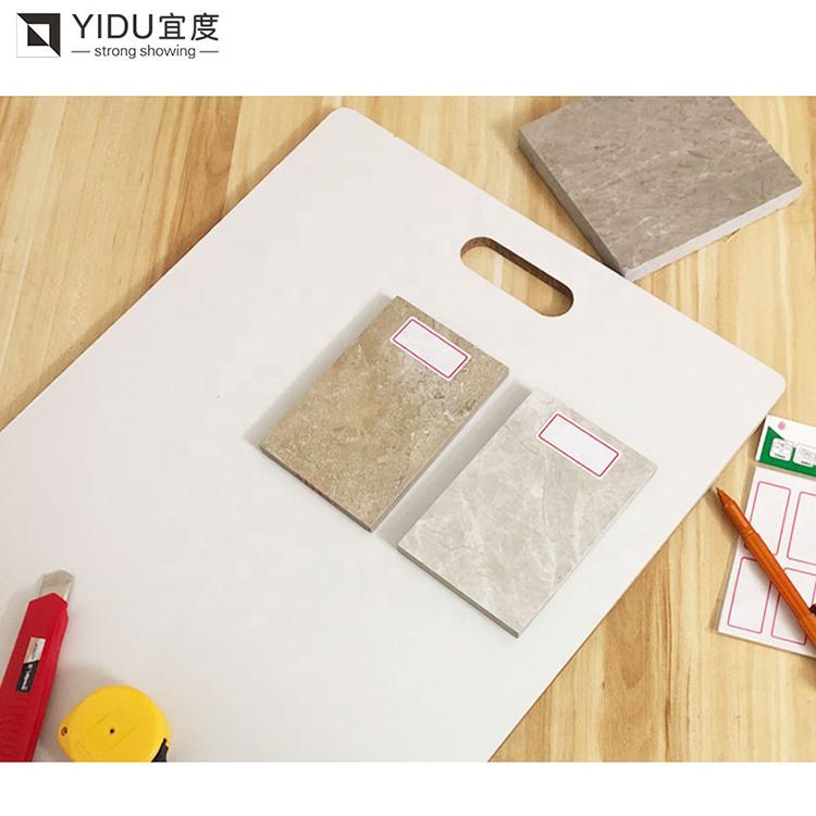 Portable Marble Wood Floor Density Fiberboard Stone Sample Board