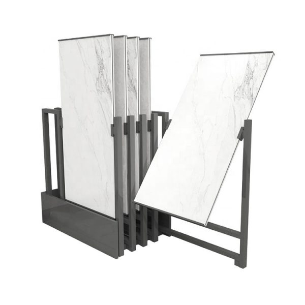360 Rotating Ceramic Tile Display Stand For Showroom
