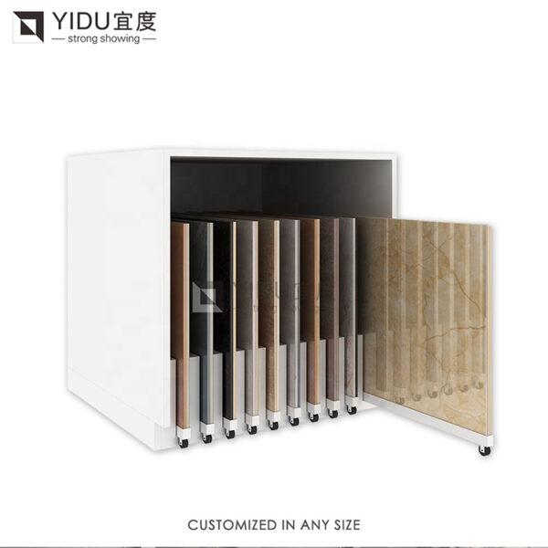 Custom Drawer Sliding Tile Display Racks Sliding Floor Tile Sample Display Cabinet