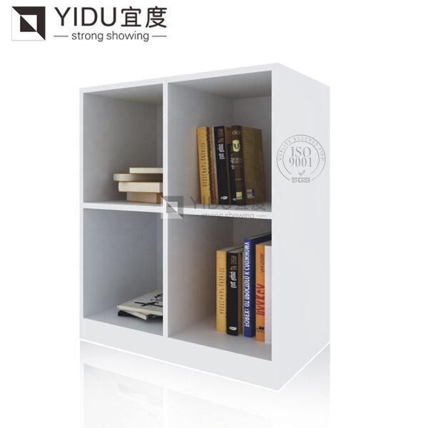 2 Tier Bookshelf White Tile Display Cabinet Shelf