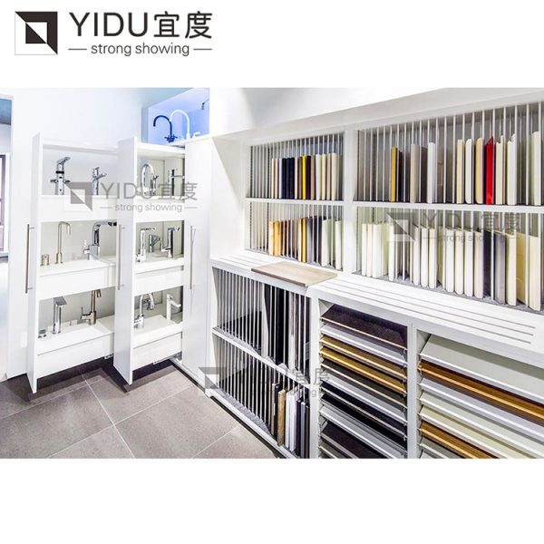 Custom Size Drawer Tile Display Stand For Marble Stone Display