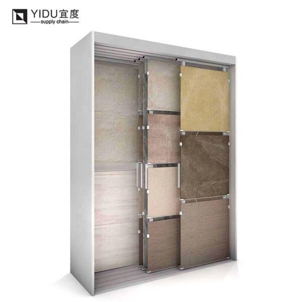 Custom Ceramic Tile Hanging Display Rack For Showroom Display