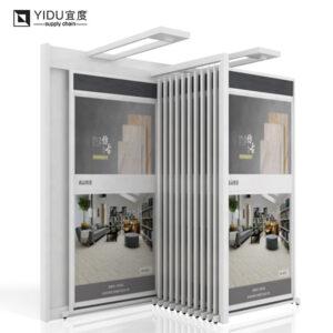 Wall Hanging Display Rack For Cerami Tile Marble Sliding Display Showrooms