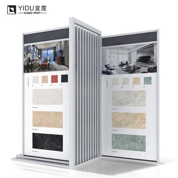 Retail Push-pull Hanging Display Rack Metal Tiles Display Showroom