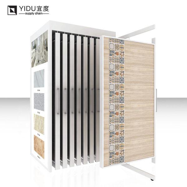 High-quality Ceramic Tile Sliding And Spinning Display Metal Rack