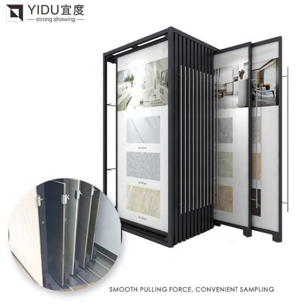 Sliding Push-pull Ceramic Tile Metal Display Racks Shelf