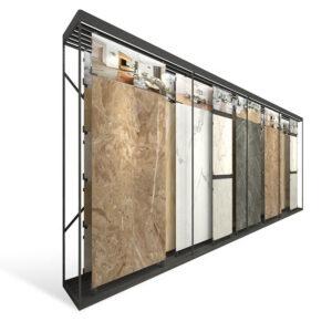 Push-pull Display Rack For Ceramic Tile Granite Marble Quartz Stone Showroom Display Rack