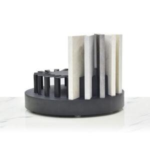 Countertop Spinner Display Rack For Display Quartz Stone Marble Tile Granite Shelf